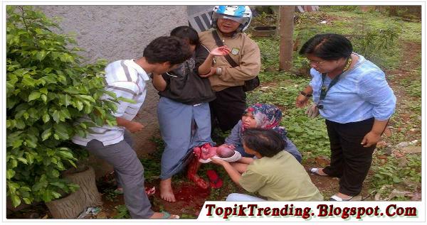 Astaga, Siswi SMK Di Tangerang Melahirkan Di Kebun