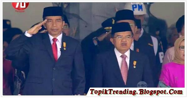 Heboh, Jusuf Kalla Tidak Beri Hormat Saat Pengibaran Bendera