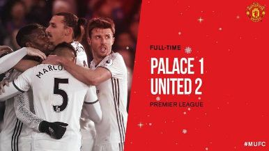 Crystal Palace vs Manchester United 1-2 All Goals & Highlights Video