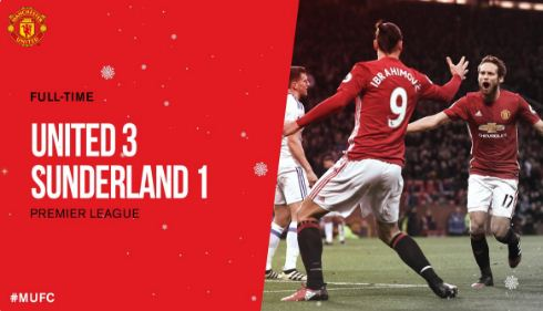 Video Cuplikan Gol Manchester United vs Sunderland 3-1