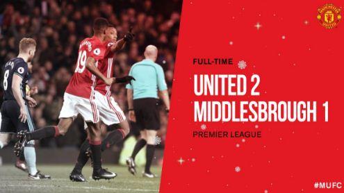 Video Gol Manchester United vs Middlesbrough 2-1