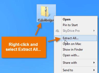 Cara Ekstrak file zip/rar