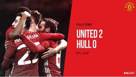 Video Gol Manchester United vs Hull City 2-0 EFL Cup
