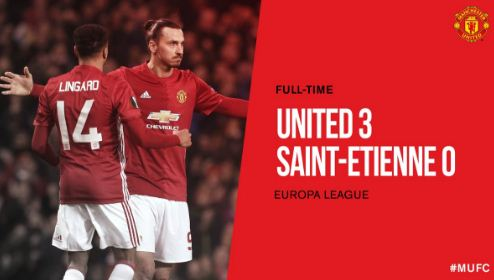 Manchester United vs Saint-Étienne 3-0 Video Gol & Match Highlights