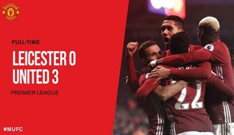 Video Cuplikan Gol Manchester United vs Leicester City 3-0
