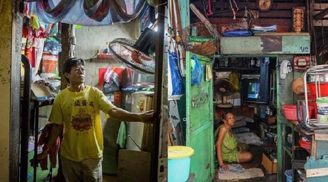 Dengan Luas Rumah Hanya Sebesar 2,2 Meter Pria Asal Ho Chi Minh Harus Tidur Berdiri