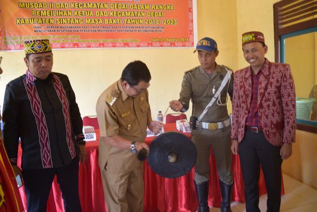 Wakil Bupati Askiman Kegiatan Musdad Kecamatan Dedai