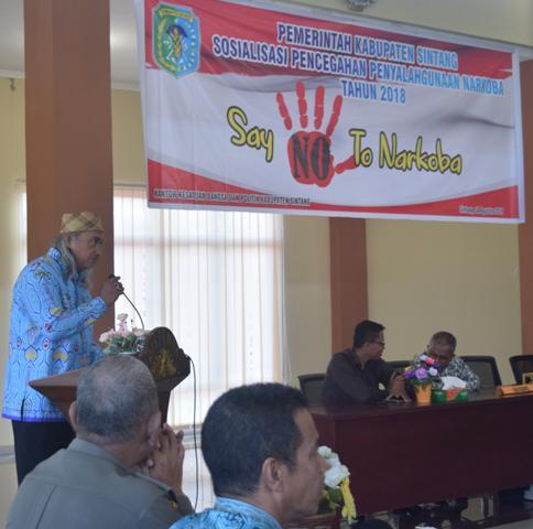 Staf Ahli Bupati Buka Acara Sosialisasi Pencegahan Penyalahgunaan Narkoba