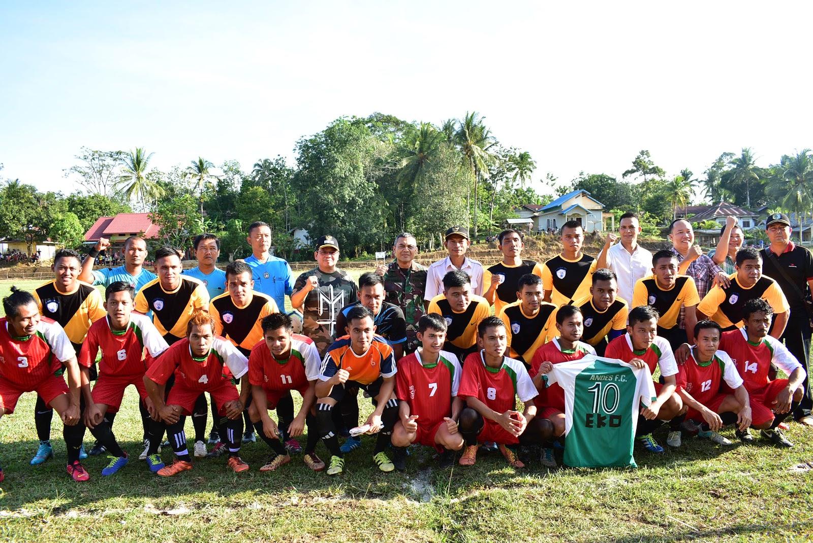 Wakil Bupati Buka Turnamen Bola Andes Cup Desa Gurung Kempadik