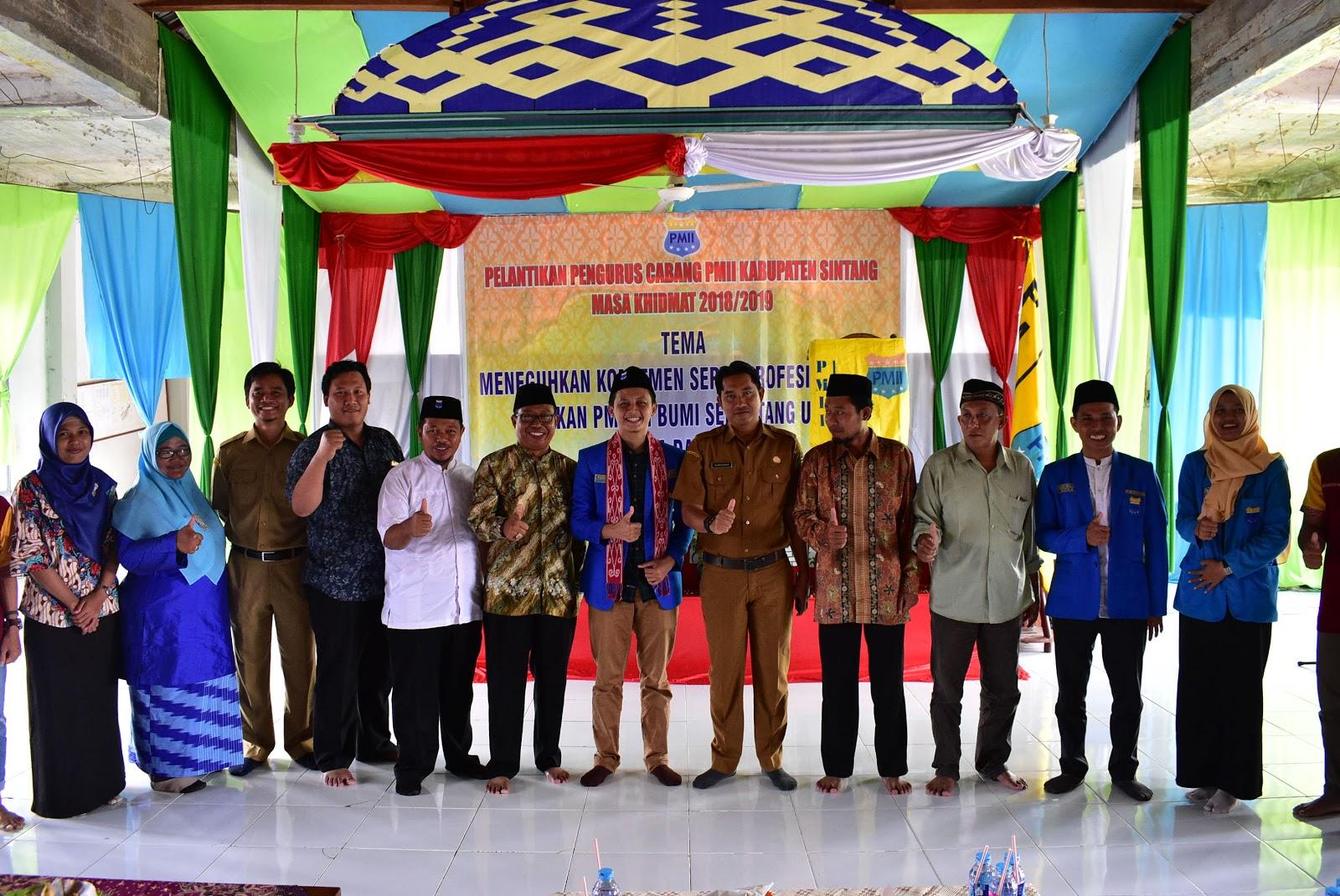 Pelantikan Pengurus Cabang PMII Kabupaten Sintang Masa Khitmad 2018 – 2019