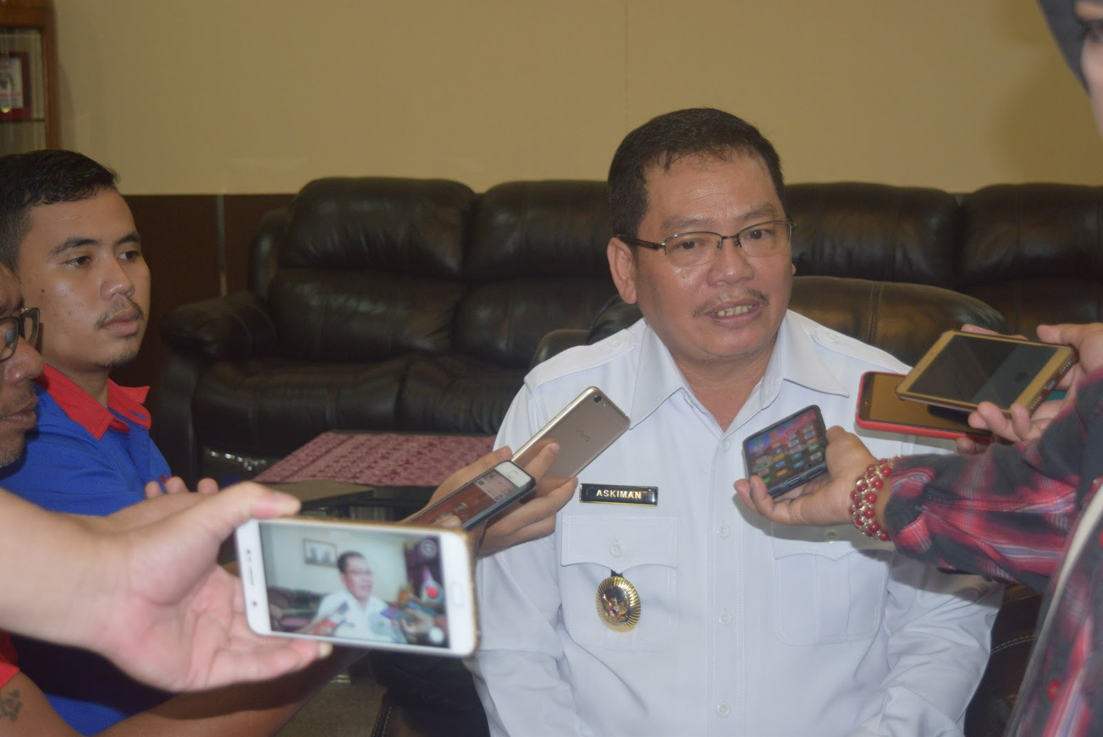 Drs. Askiman.MM Pimpin Rapat Persiapan Terakhir Tim Porprov Kabupaten Sintang