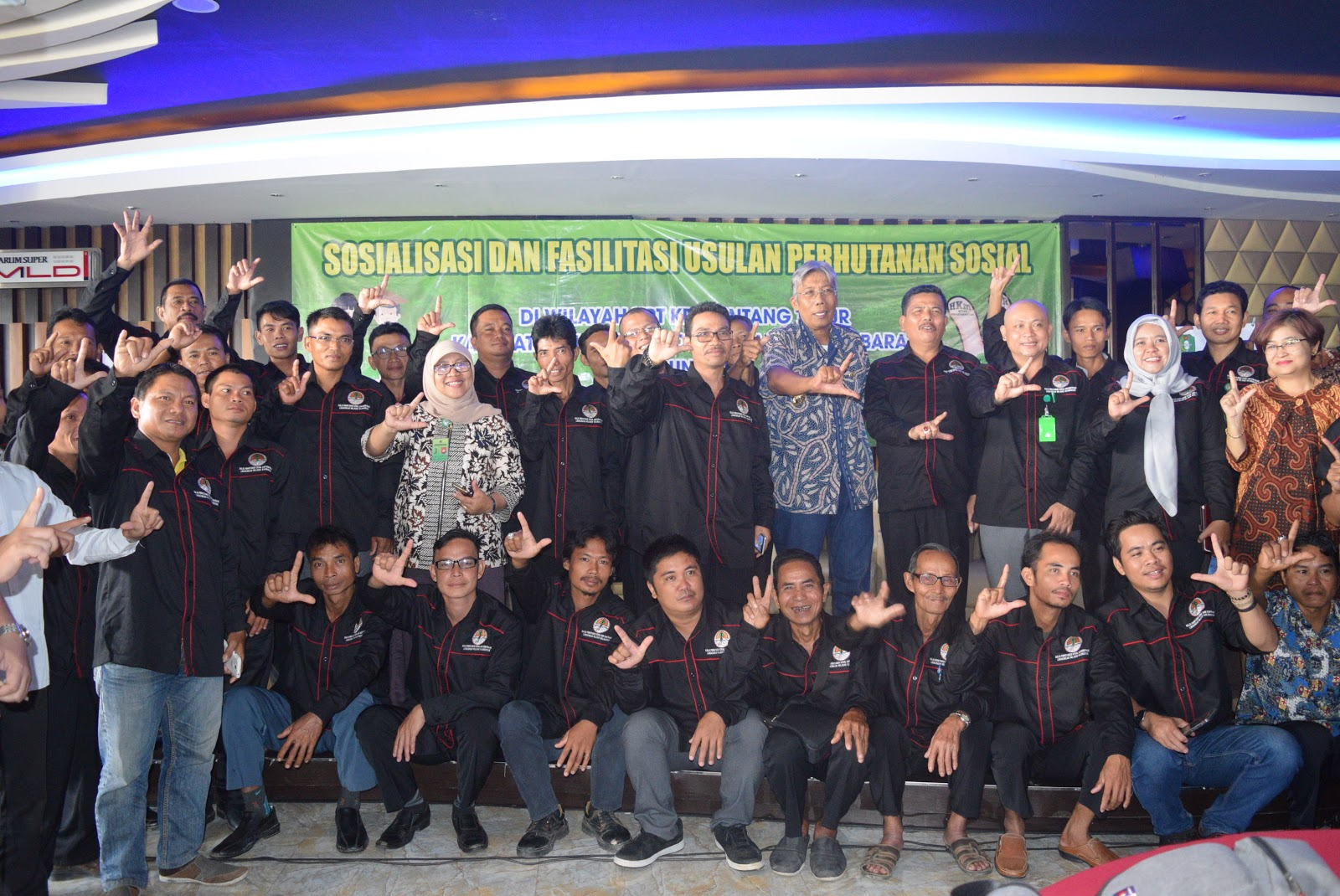 Jarot Winarno Buka Sosialisasi Dan Fasilitasi Usulan Perhutanan Sosial Di Wilayah UPT KPH Sintang Timur Kabupaten Sintang Kalimantan Barat Tahun 2018