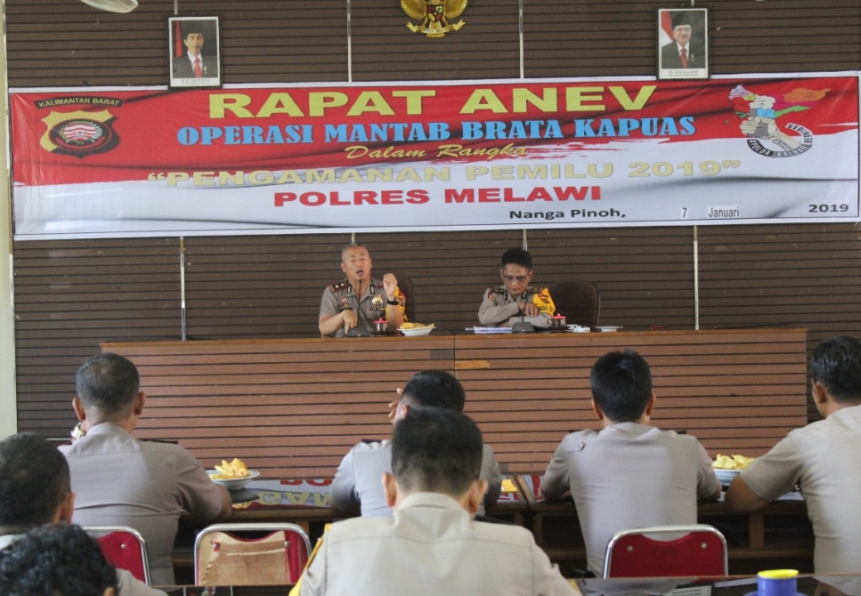 "Pimpin Anev ""Operasi Mantab Brata Kapuas"", Wakapolres Melawi : Optimalisasikan Polri Promoter"