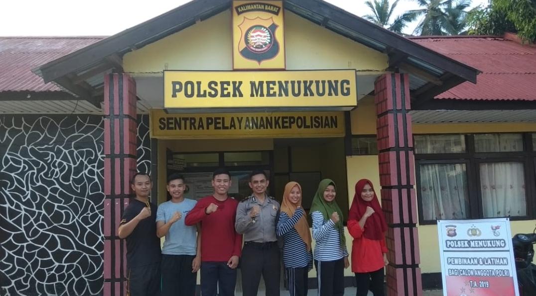 Proaktif Rekrutmen Anggota Polri, Polsek Menukung Lakukan Pembinaan Generasi Millenial