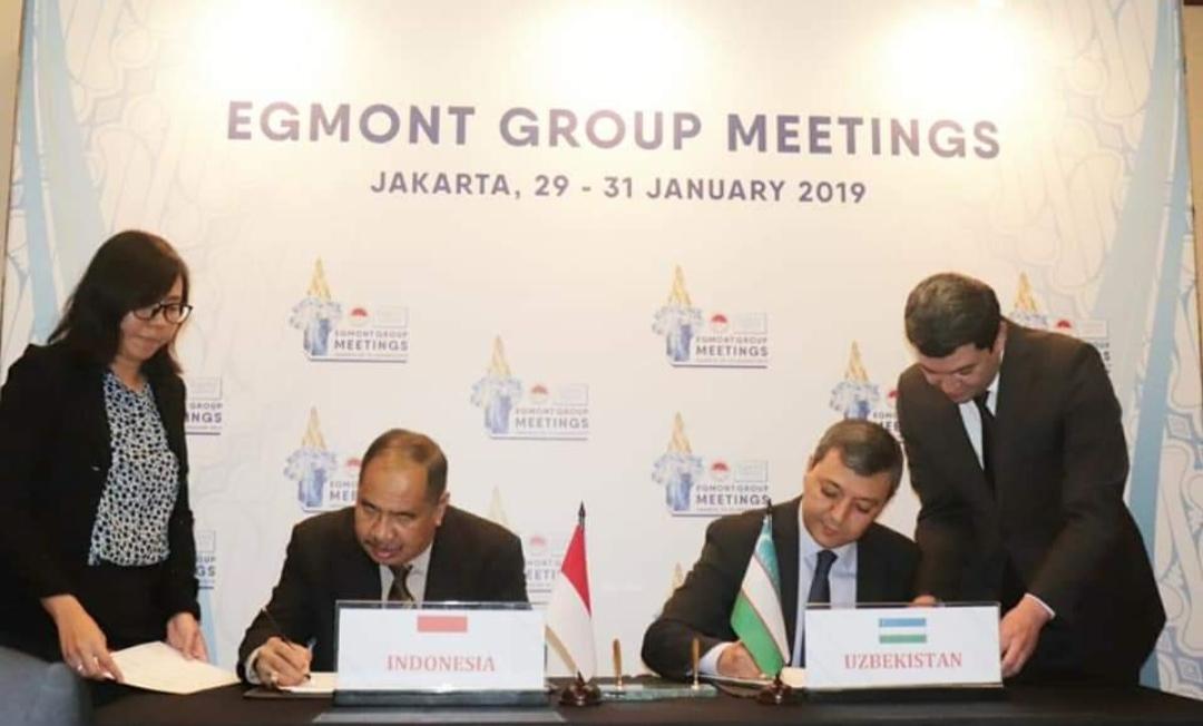 Nota Kesepahaman PPATK dengan Lembaga Intelijen Keuangan Uzbekistan,disahkan.