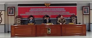 Paripurna Khusus Penyampaian Keputusan DPRD Sintang Terhadap LKPJ Tahun 2018