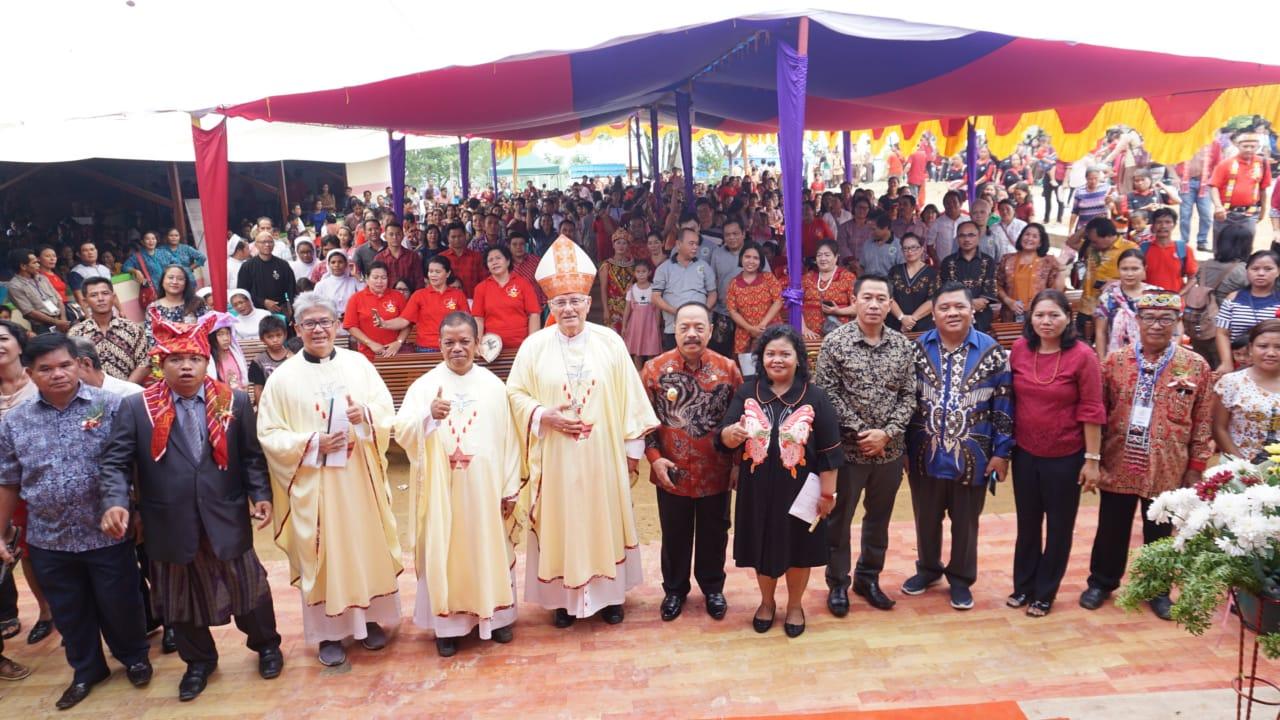 Wakil Bupati Sanggau Ingatkan Umat Agar umat tidak mudah termakan isu yang sedang beredar