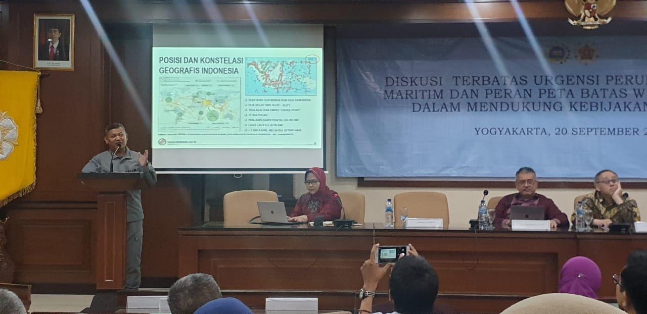 Diskusi Terpumpun Kebijakan Satu Peta, Kepala Bakamla RI Bahas Kompleksitas Penegakan Hukum di Laut