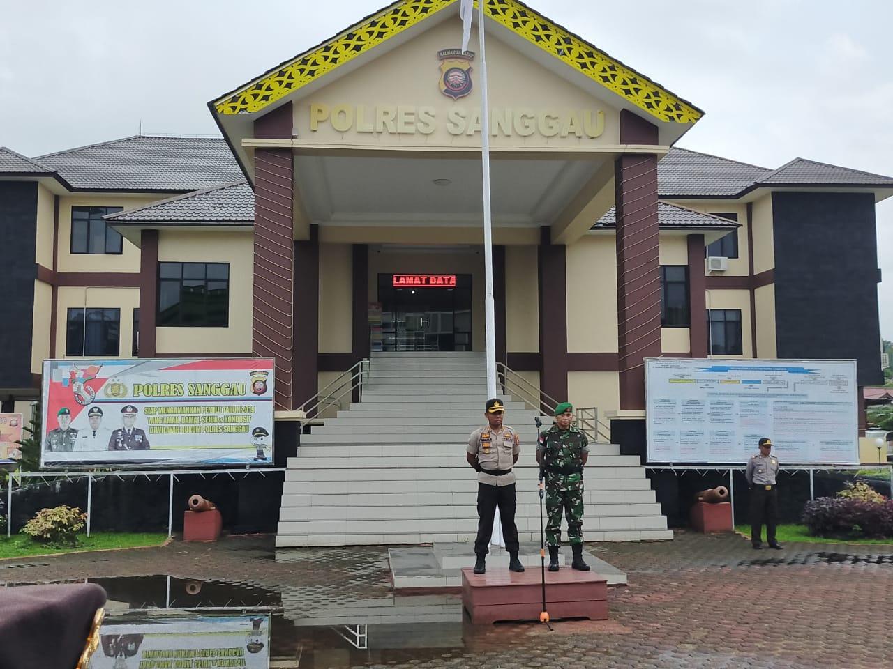 Polres Sanggau Pimpin Apel Gelar Pasukan,di Mulainya Oprasi Zebra 2019