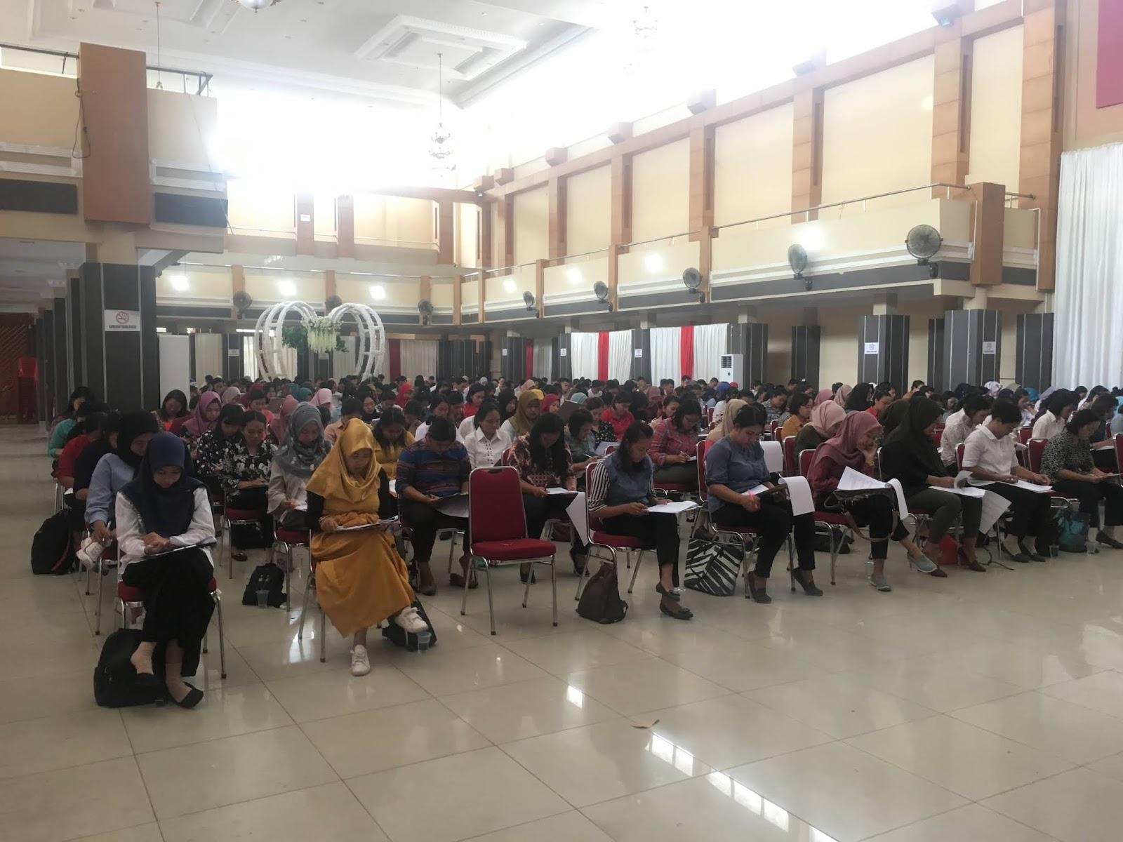 313 Peserta ikuti Tes Selksi Penerimaan Tenagga Kontrak Daerah Dinkes Sanggau.