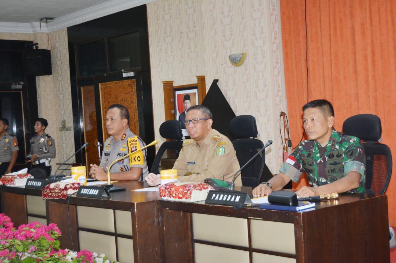 Pangdam XII/Tpr Hadiri Rakor Lintas Sektoral Kesiapan Pengamanan Natal dan Tahun Baru 2020