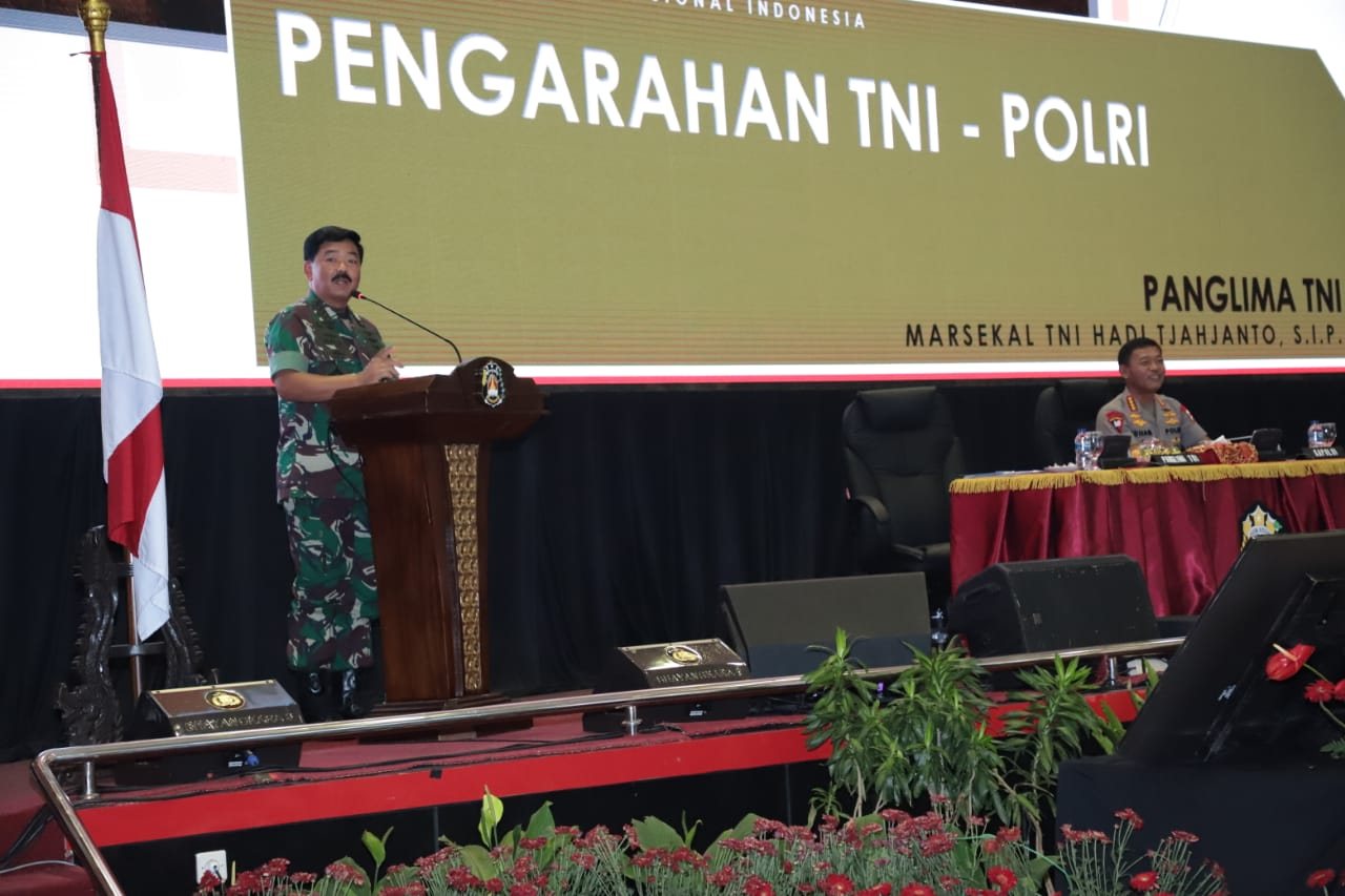 Panglima TNI : Sinergitas TNI-Polri Jamin Stabilitas Keamanan