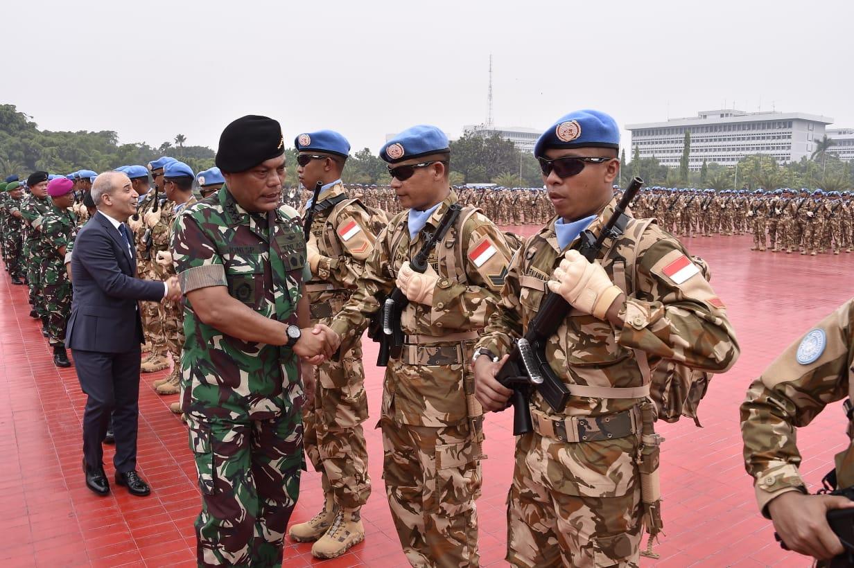 Panglima TNI Lepas 1.234 Diplomat Militer ke Lebanon