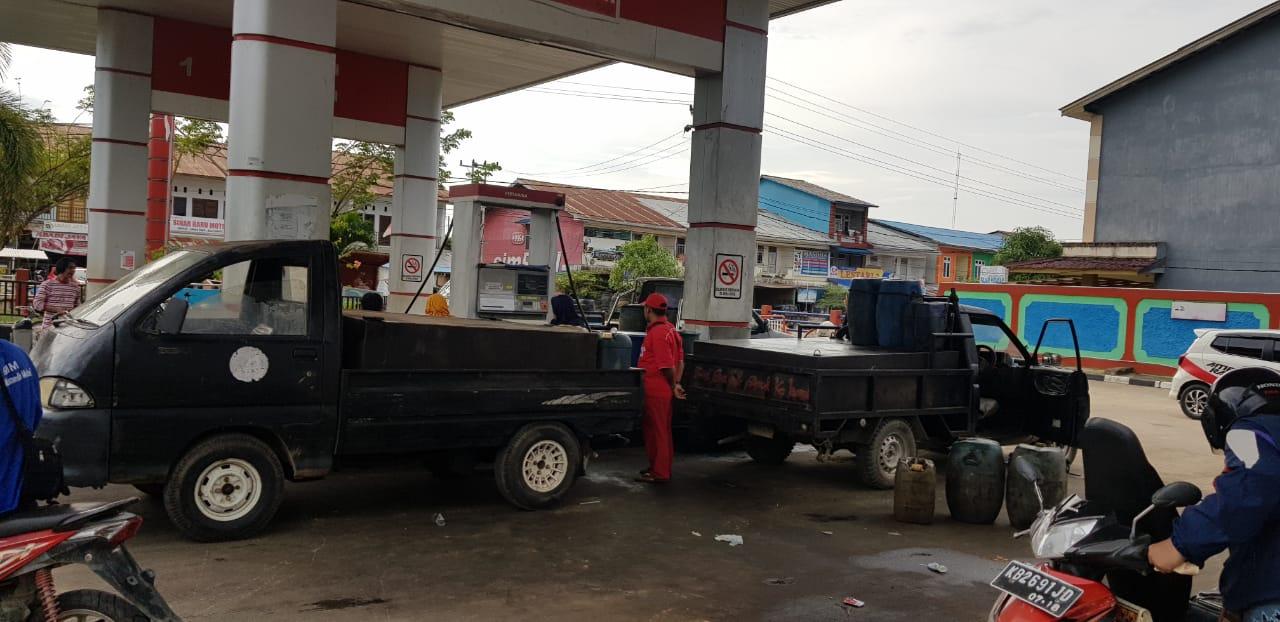 Antri BBM Dengan Tengki Dimodifikasi 6 Pengendara di Melawi Diciduk Polisi