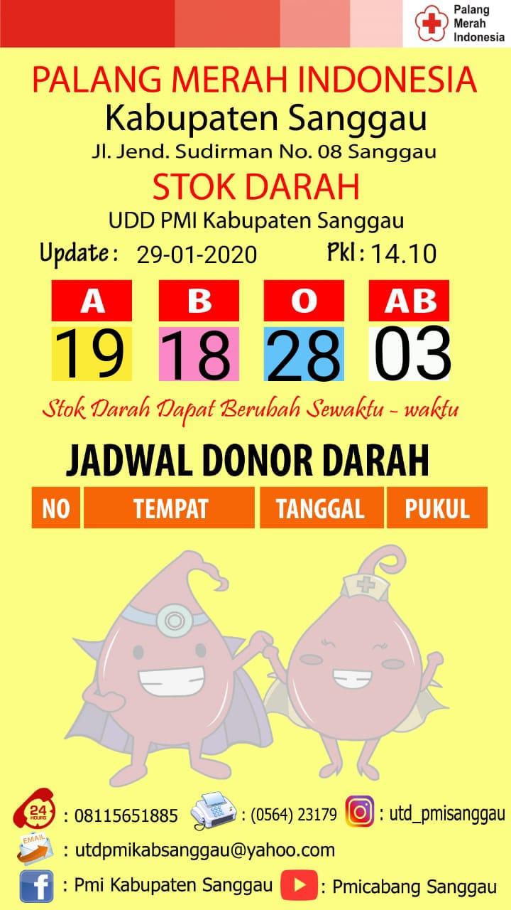 Foto : Update Stok Darah di UDD PMI Kabupaten Sanggau
