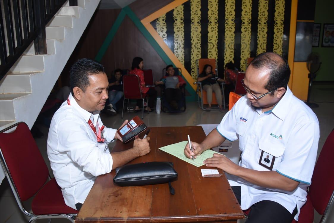 Jalin Kerja Sama sejak lama PT.ANTAM dan PMI Sanggau Rutin Lakukan Donor Darah Bersama.