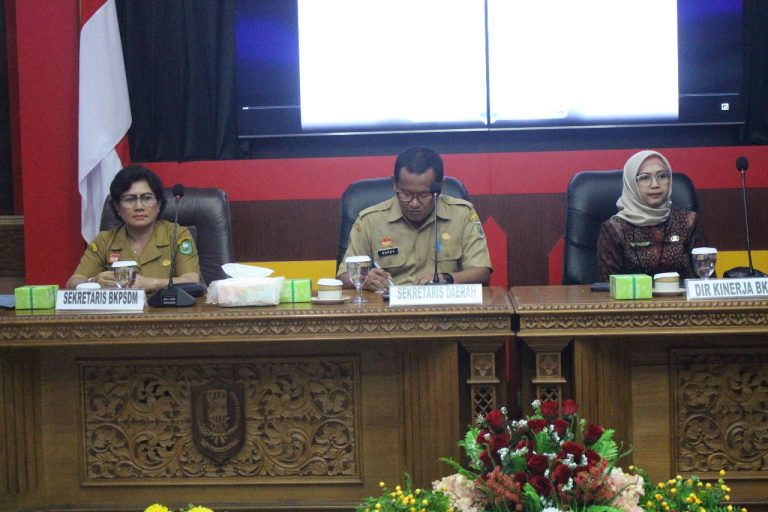 BKPSDM Sanggau,Gelar Workshop Pengukuran Kinerja Pegawai Negeri Sipil