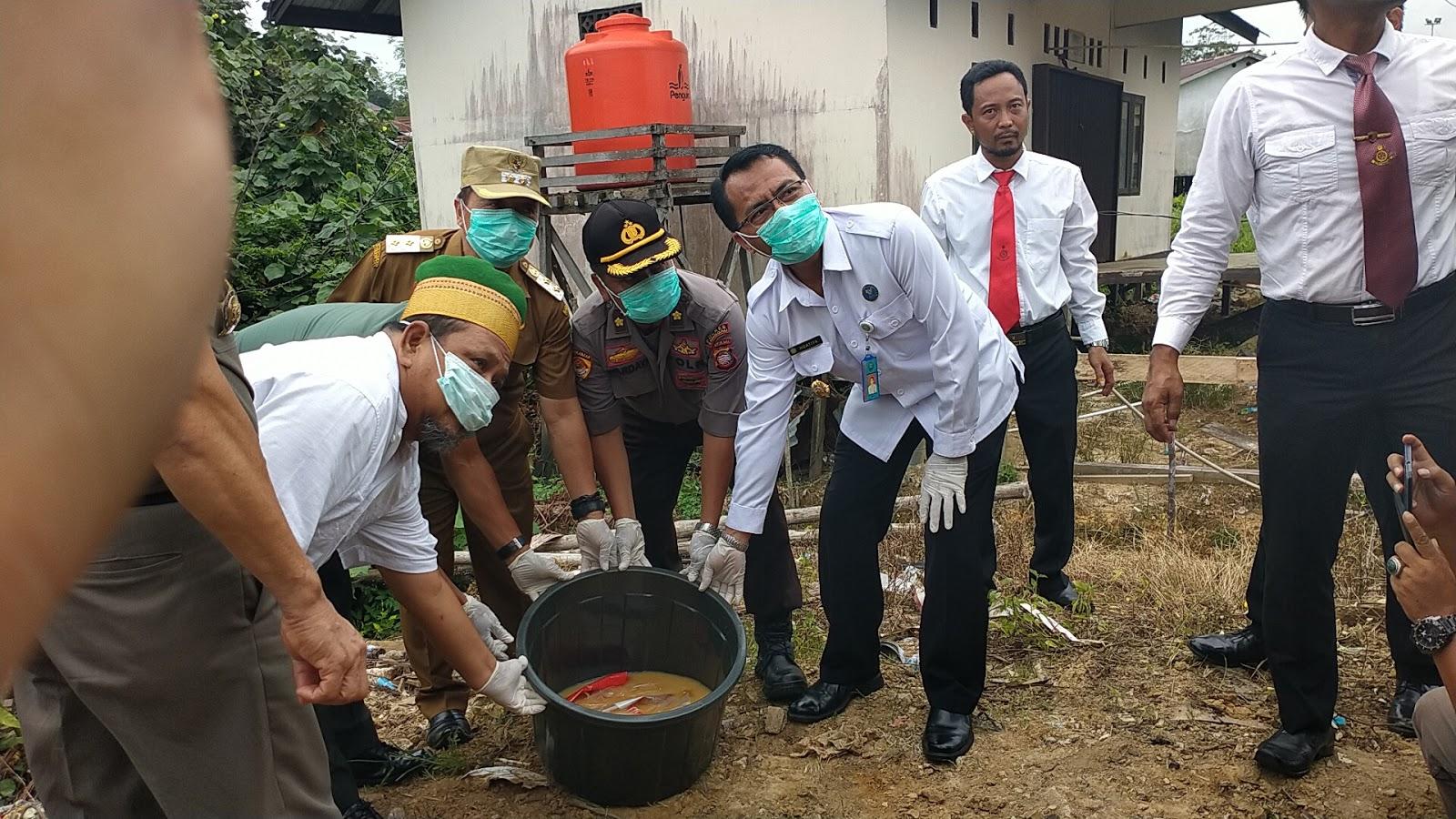 Polres Sanggau Lakukan Pemusnahan Barang Bukti 1,49 Kg Sabu