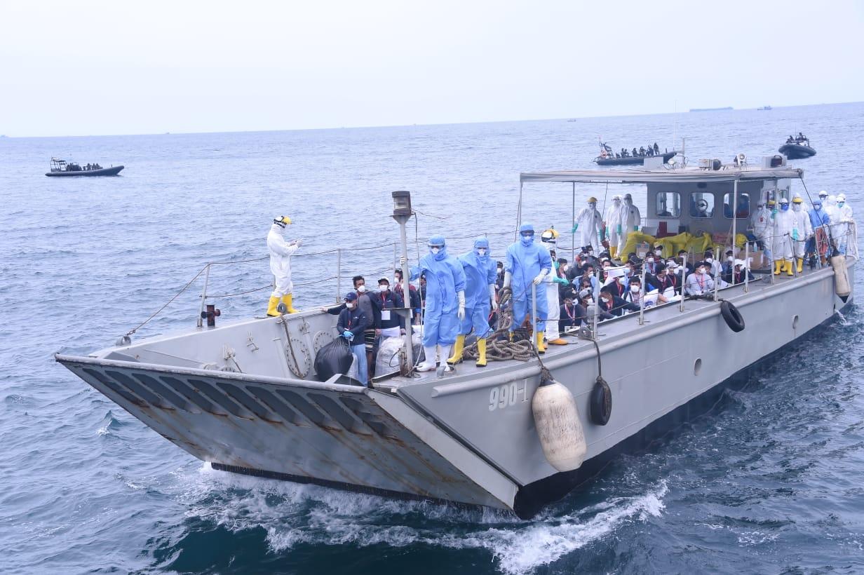 Panglima Kogasgabpad : 68 WNI Eks ABK MV. Diamond Princess Dipindahkan ke Pulau Sebaru Kecil