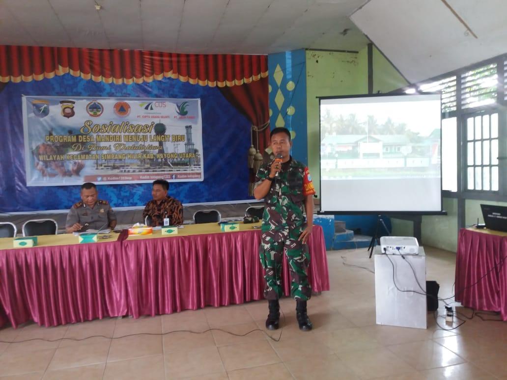 Wujudkan Program Desa Mandiri,Jajaran Kodim 1203/ Ketapang Gelar Sosialisasi