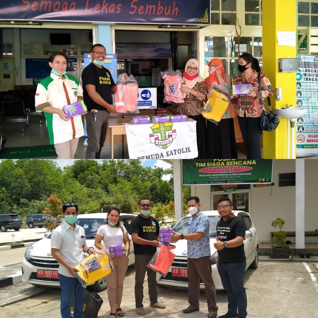 Pemuda Katolik Komcab Sanggau Salurkan Bantuan APD Ke RSUD Ade M Djoen Singang dan RSUD MTH Djaman Sanggau