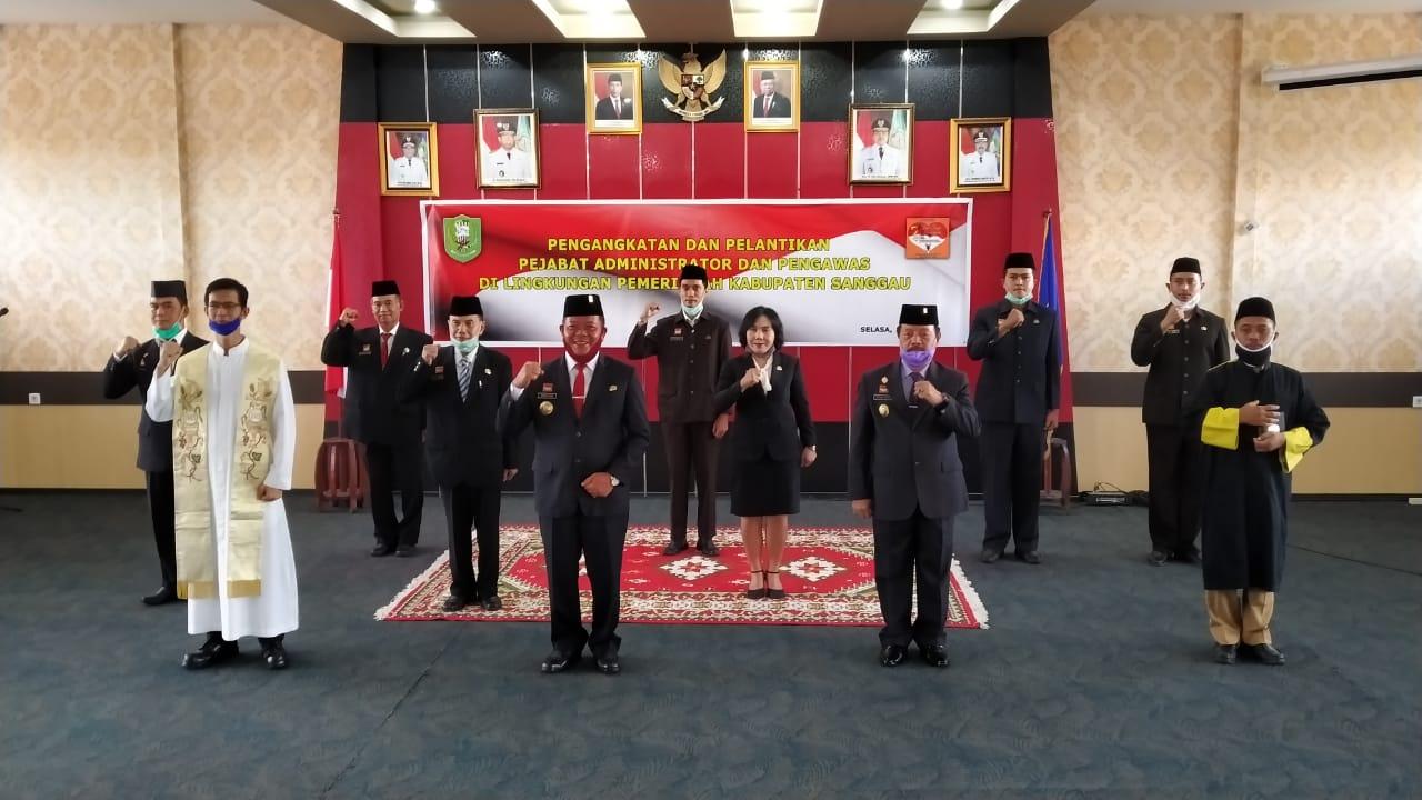 Berikut Nama 7 Orang Pejabat Administrator dan Pengawas di lingkungan Pemkab Sanggau Yang Dilantik