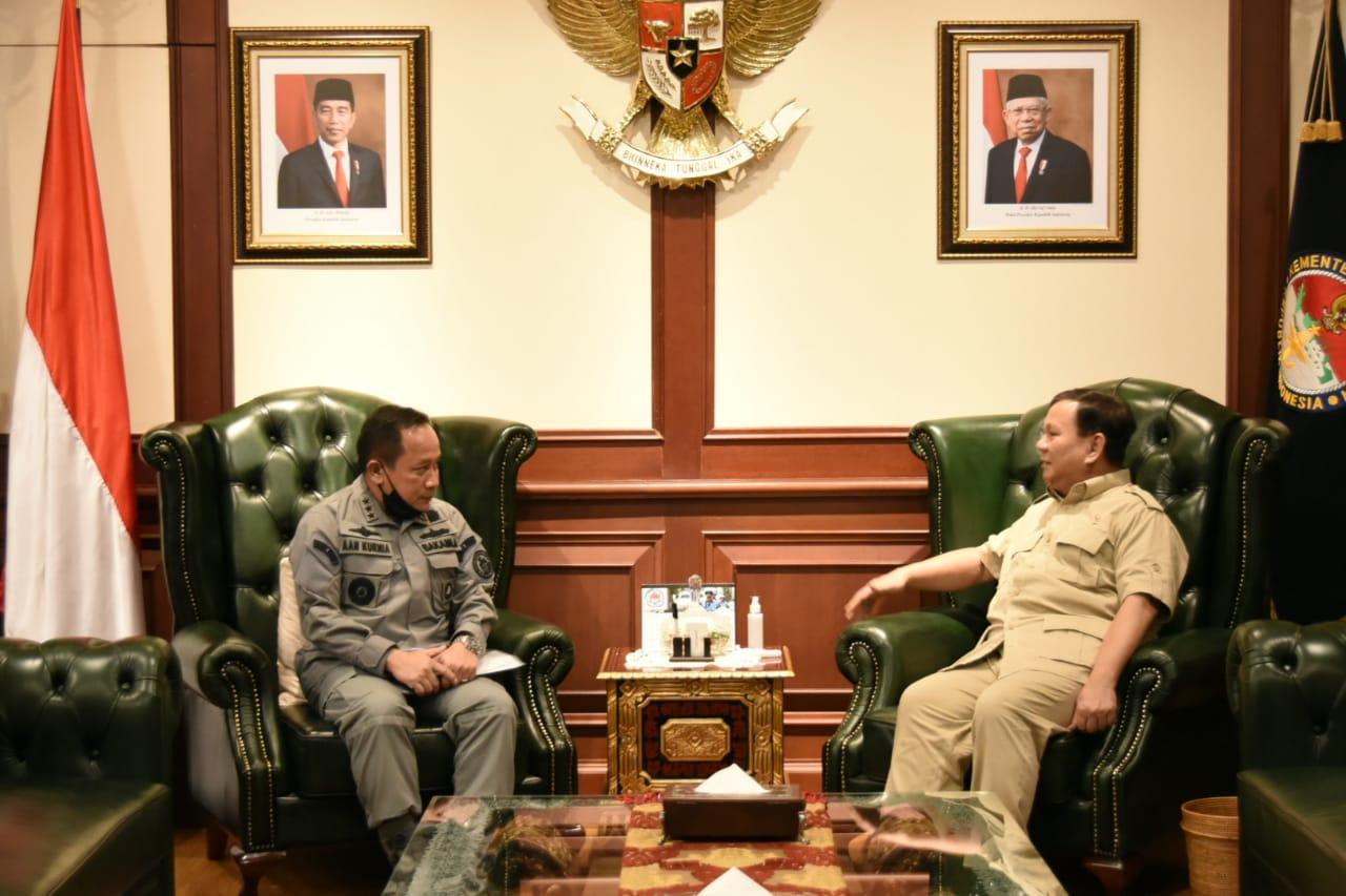 Kepala Bakamla RI Courtesy Call Kepada Menhan Prabowo Subianto
