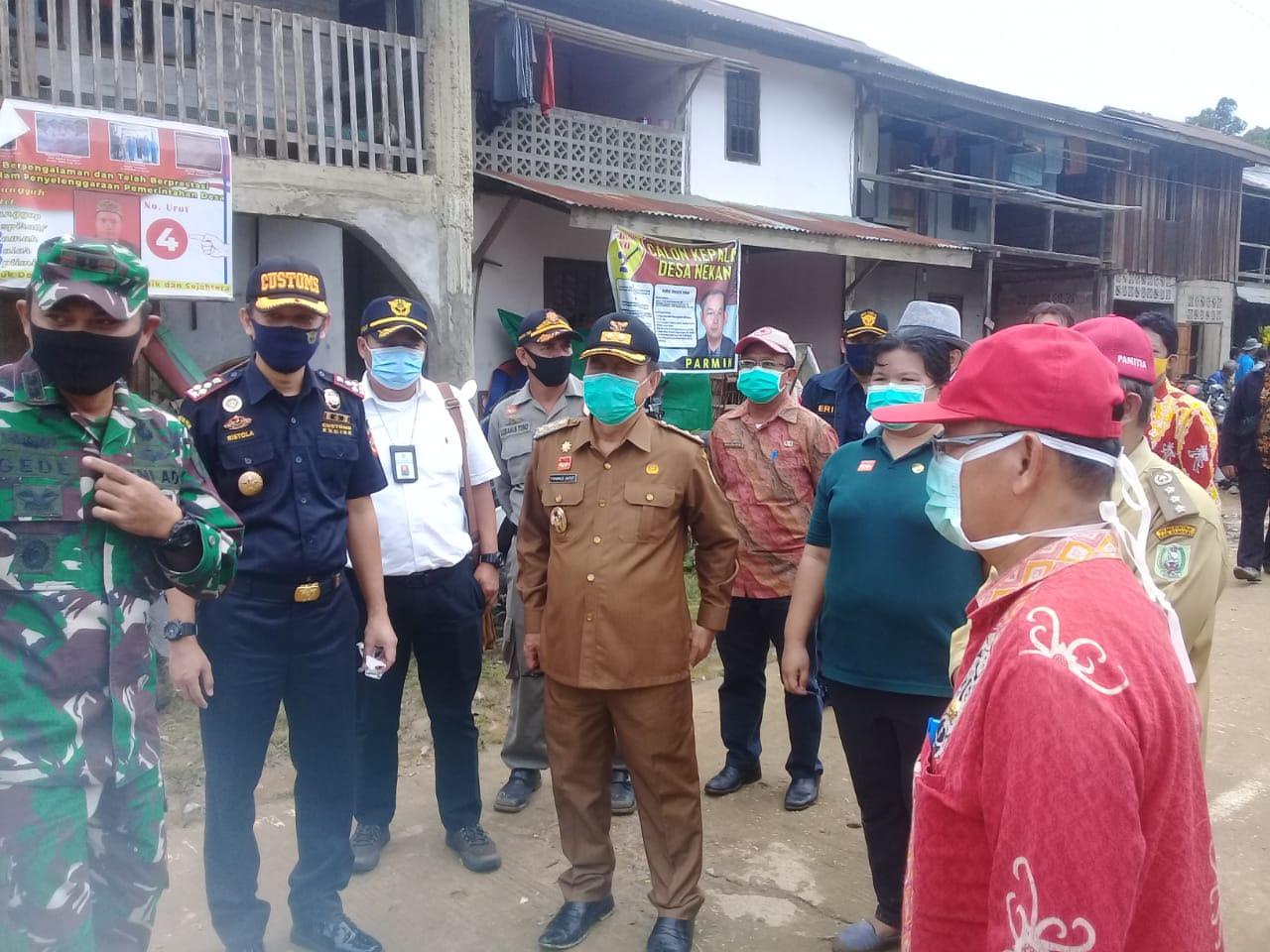 Wakil Bupati Sanggau dan Forkompimda serta Kepala OPD Tinjau langsung lokasi Banjir Bandang