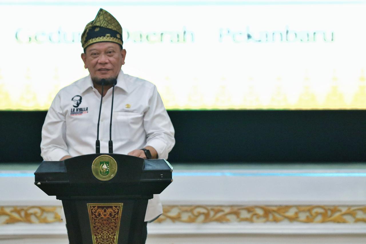 Kunjungi Riau, LaNyalla Mattalitti Kenalkan Tagline DPD RI 'Dari Daerah Untuk Indonesia