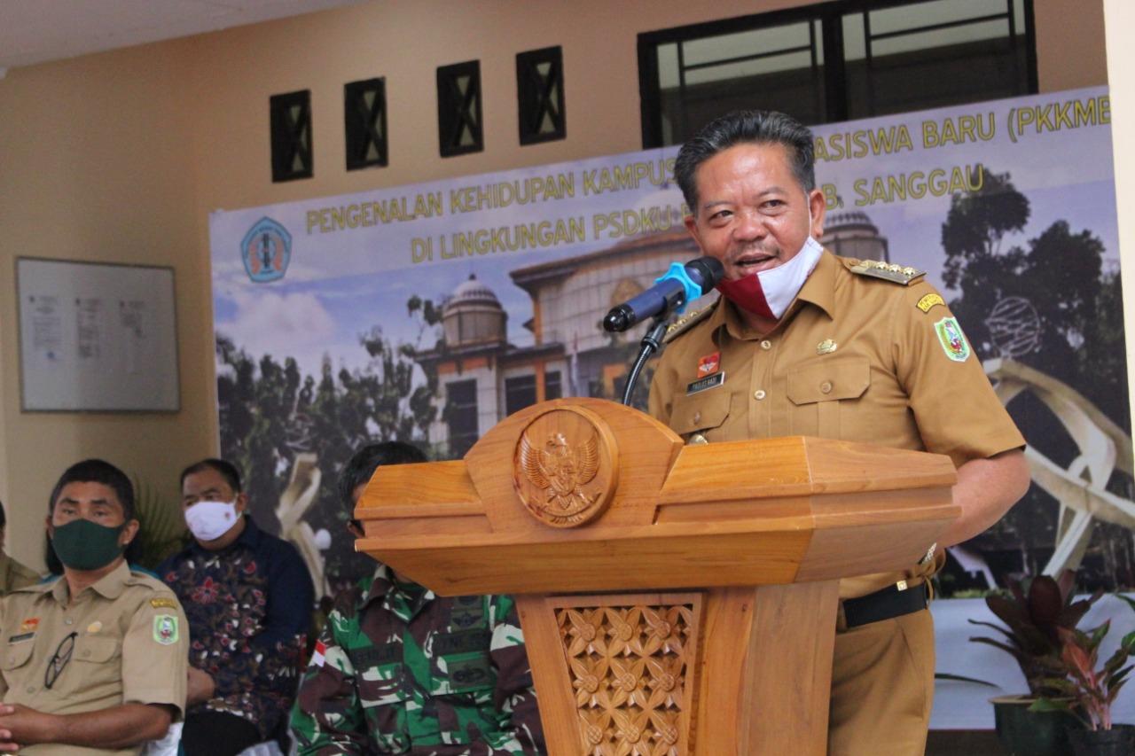 Buka Pengenalan Kampus Bagi Mahasiswa Baru di PSDKU Ini Pesan Bupati Sanggau