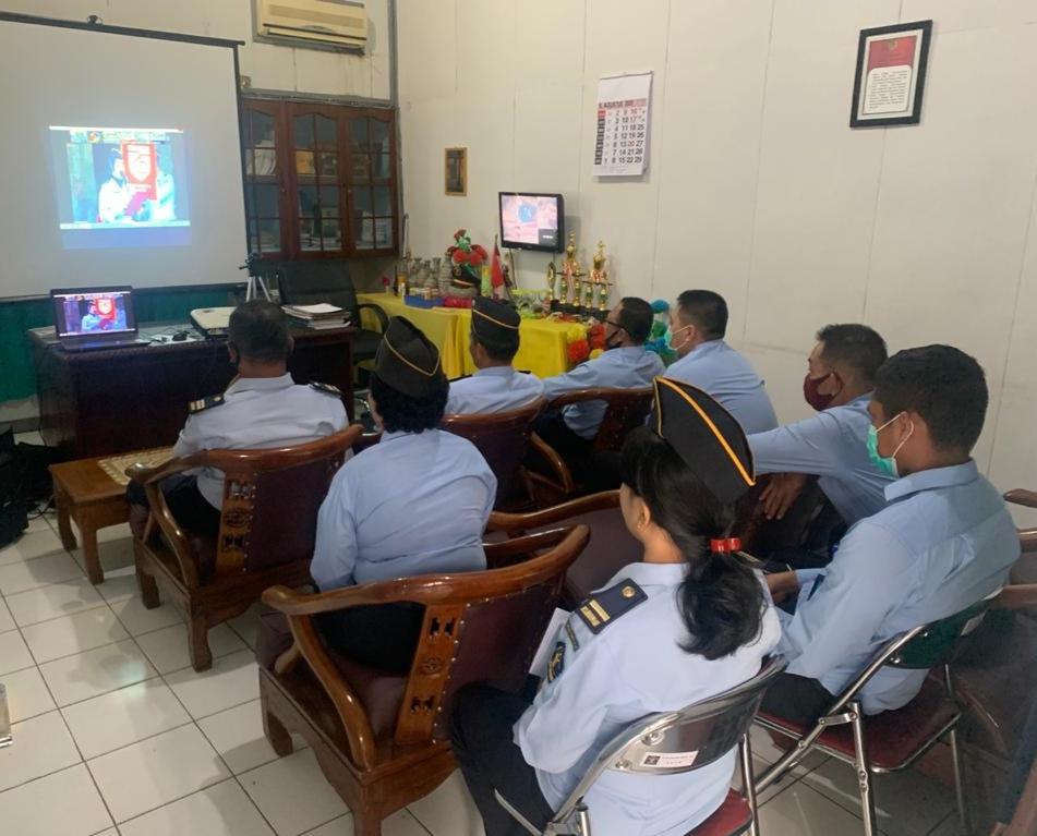 Petugas Rutan Kelas II B Sanggau ikuti Vicon bersama Kementerian Hukum dan HAM