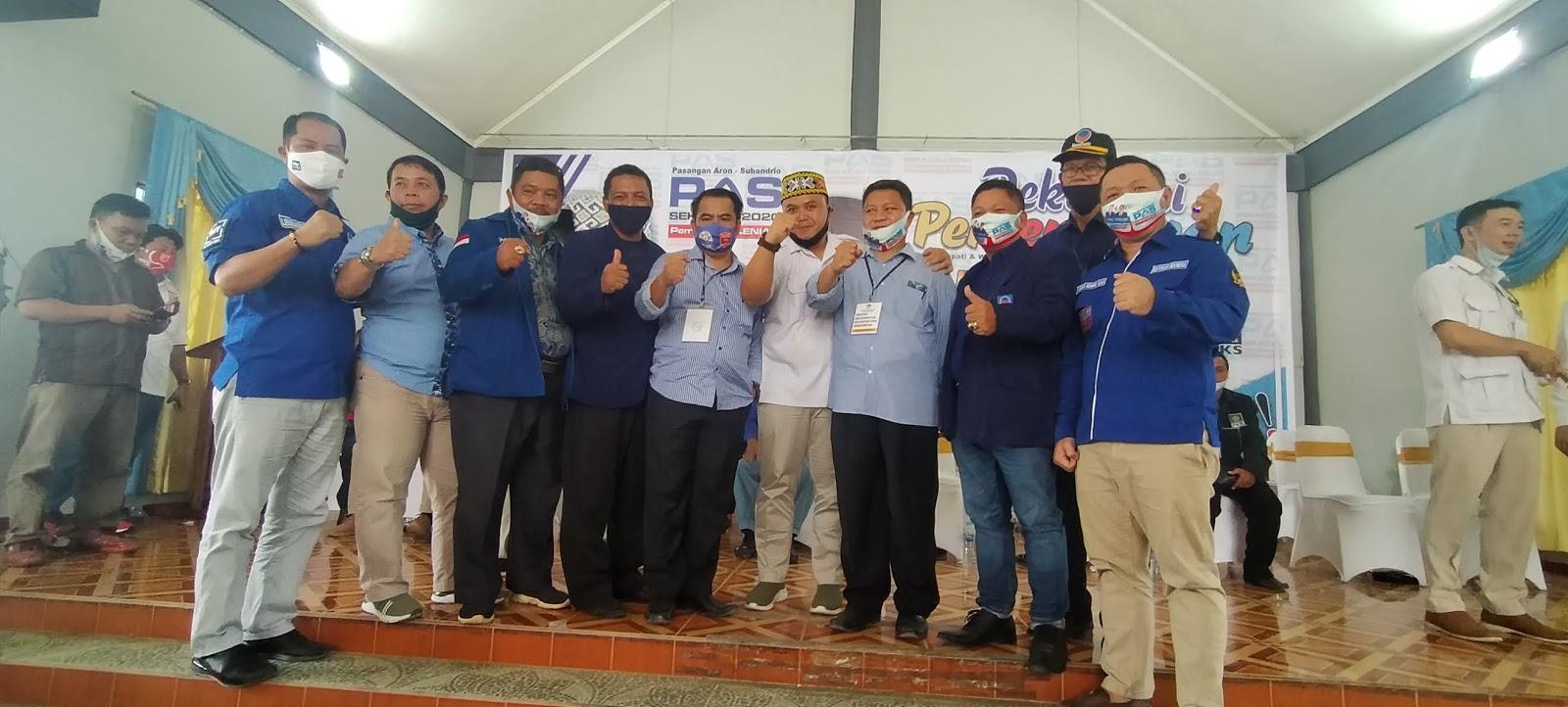 Mewakili DPW Partai Nasdem Fransiskus Suwondo Sampaikan Orasi Politik Saat Deklarasi Aron-Subandrio di Sekadau
