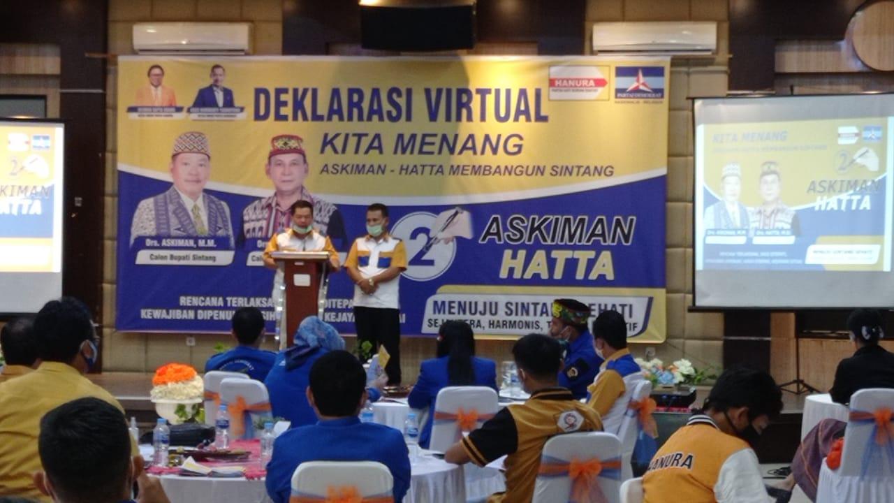 Deklarasi Virtual Partai Pendukung Pasangan Calon Bupati Sintang Askiman Hatta