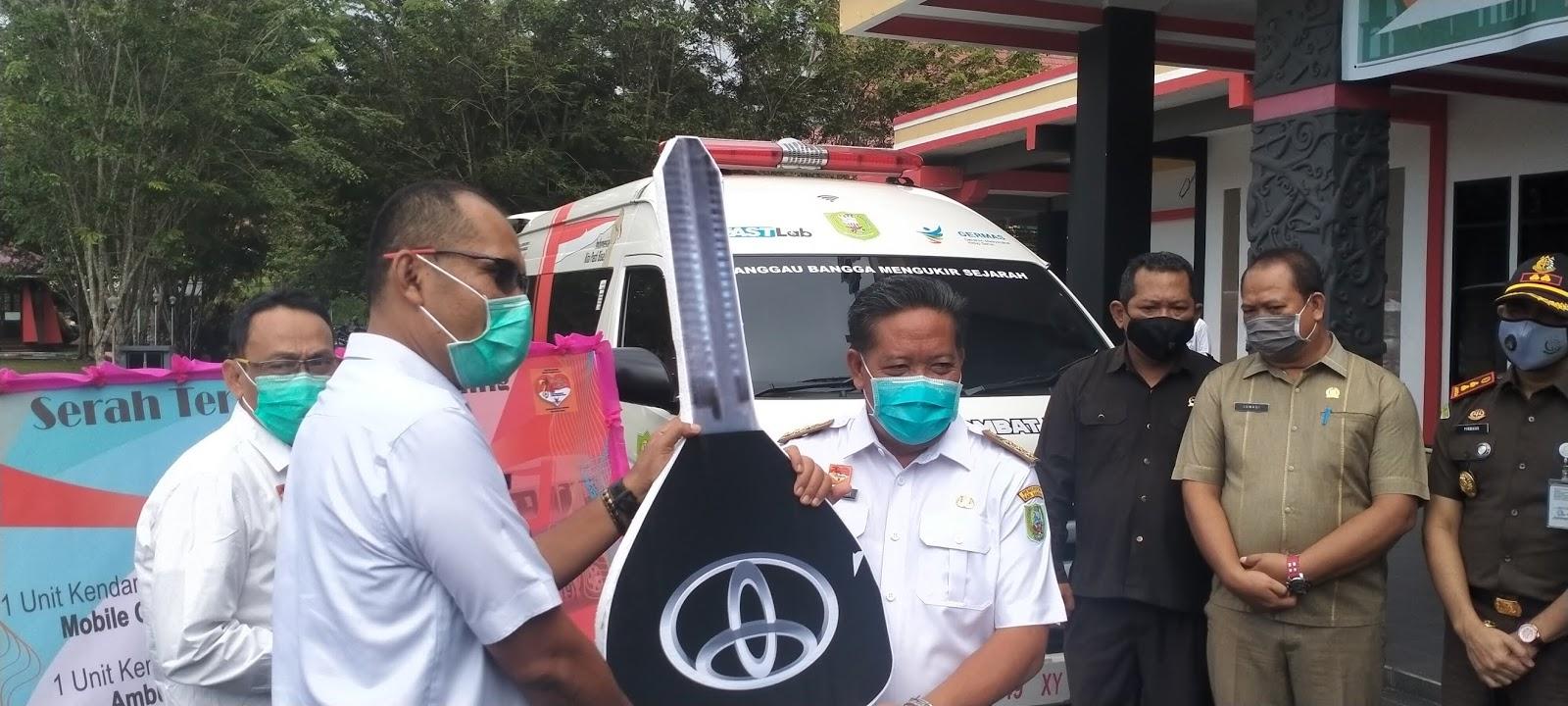 1 Unit Mobile Combat PCR Covid-19 dan 2 Ambulan Hadir di Kabupaten Sanggau