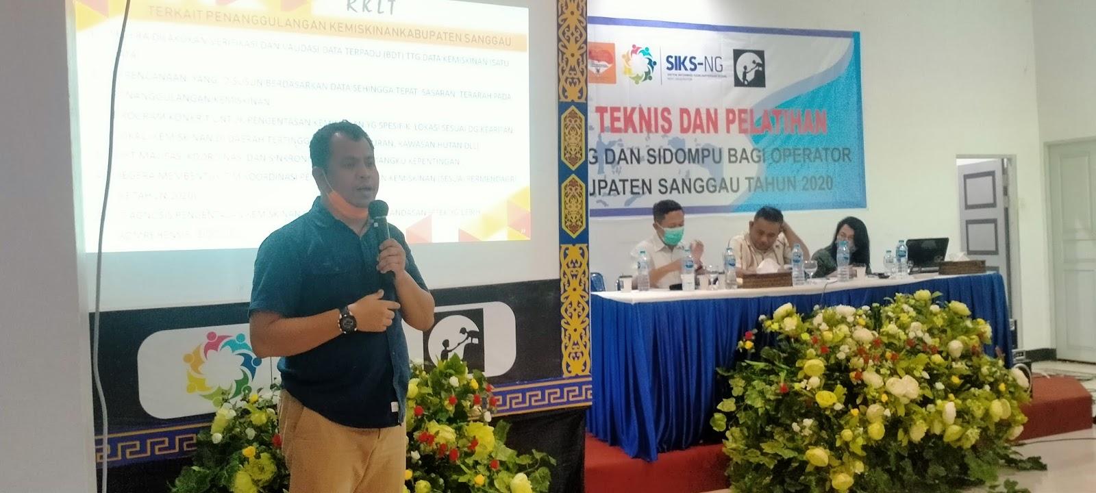Dinsos P3AKB Lakukan Bimtek SIKS-NG dan SIDOMPU Kepada Operator Desa Di Seluruh Kabupaten Sanggau