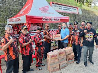 Aksi Sosial MPC Pemuda Pancasila Sanggau di Dukung Penuh Anggota DPRD Kabupaten Sangggau Yuvenalis Kirsmono