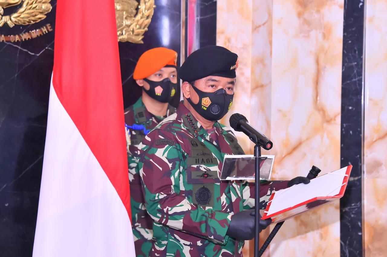 Panglima TNI Pimpin Upacara Sertijab Kapuskersin