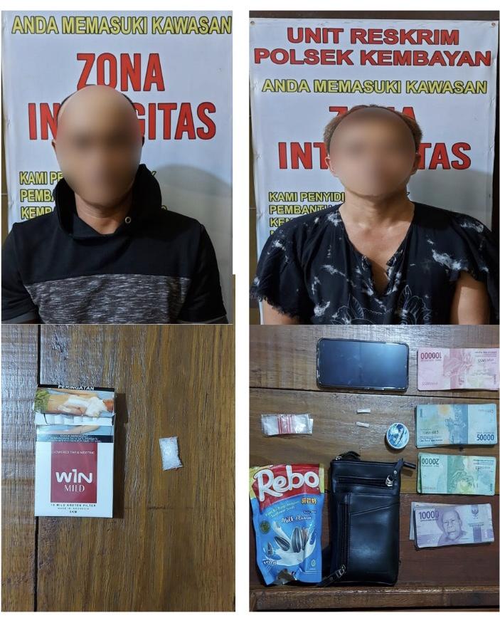 Diduga Bawa Narkoba Jenis Sabu 2 Orang Warga Kembayan,Di Tangkap Polisi