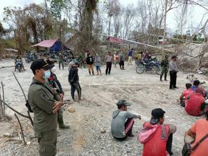 Aparat Keamanan Himbau Aktifitas Peti di Melawi Di Hentikan