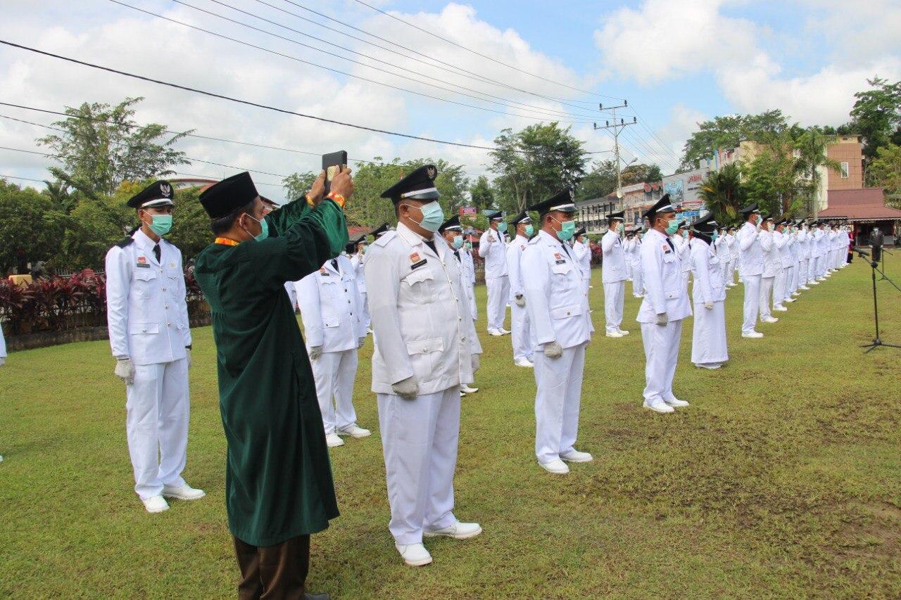 72 Kepala Desa Periode 2021-2026 Kabupaten Sanggau,Dilantik